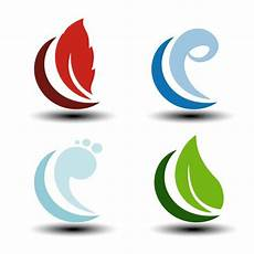 simbolos naturales concepto los cuatro elementos de la naturaleza simbolos cuatro elementos de la naturaleza vector de