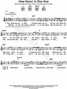 chris tomlin quot how great is our god quot sheet music leadsheet in c major transposable download