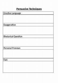 persuasive techniques worksheet by joannie teachers pay teachers