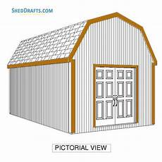 gambrel barn house plans 12 215 20 gambrel barn shed building plans blueprints to