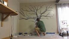 Painted Family Tree Mural In 2019 Family Tree Mural