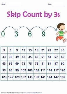skip counting in 3 s worksheets 11936 skip counting charts