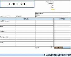 booking receipt template guest bill used in hotels template124