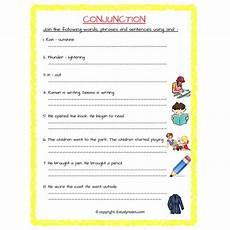 english conjunction and worksheet 1 grade 3 estudynotes