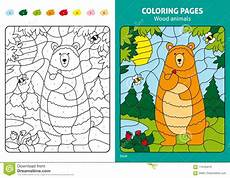 wood animals coloring pages 17194 wood animals coloring page for in forest stock vector illustration of coloring