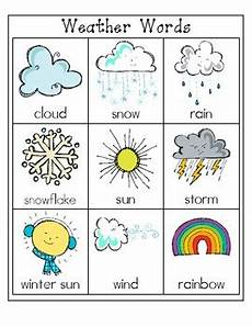 weather words worksheets 14703 weather words file folder word wall by the language and literacy garden