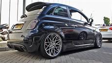 slammed abarth 500 w pogea racing wheels