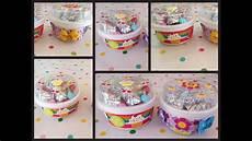 bonitos dulceros hechos con envases reciclados de yogurt youtube