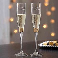 Gold Hammered Engraved Wedding Chagne Flutes Set Of 2