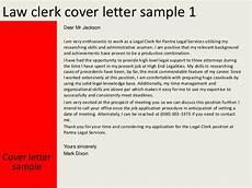 cover leter legal clerk law clerk cover letter