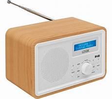 logik lhdr15 portable dab fm clock radio light wood