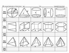 geometry solid volume worksheets 929 surface area volume 01 classify three dimensional geometric solids shapes