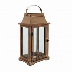 lanterne en bois lanterne en bois et m 233 tal naturel interior s