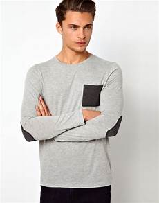 asos sleeve t shirt with contrast pocket and