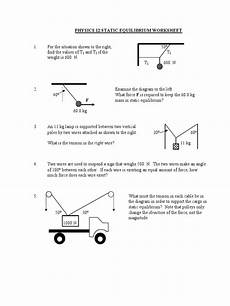 weight friction and equilibrium worksheet answers free