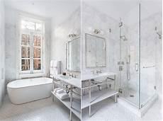 faience marbre salle de bain le carrelage hexagonal de salle de bain c est tendance