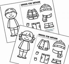 winter worksheets free printable 20002 free color cut and paste the winter clothes onto the and boy winter clothes
