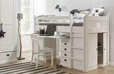 alta furniture halbhohes bett mit integriertem schrank und