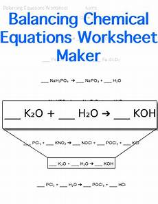 physical science balancing equations worksheet 13078 balancing chemical equations worksheet customizable chemistry education chemistry classroom