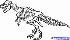dinosaurs fossils coloring pages 16729 how to draw a dinosaur skeleton dinosaur skeleton by with images dinosaur coloring