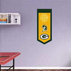 green bay packers wall stickers green bay packers logo evolution banner wall decal shop