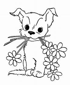 dogs to color for with flowers dogs