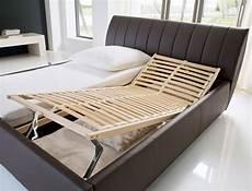 Doppelbett Mit Lattenrost - polsterbett luanos 180x200cm schwarz lattenrost klappbar