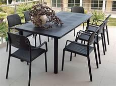 tavoli e sedie in resina per esterno libeccio bora set set tavolo 160x100cm allungabile