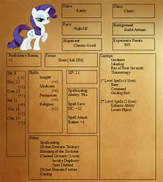 dnd character sheets play dnd in equestria with these my little pony character