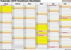 Malvorlagen Querformat Xls Kalender 2019 Nrw Ferien Feiertage Excel Vorlagen