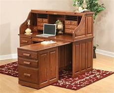 computer roll top desk with pull out return from dutchcrafters amish