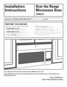 cvm2072sm2ss ge the range microwave oven install