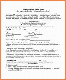 letter of separation of employment template 6 sle separation notice notice letter