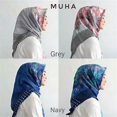 Jilbab Segi Empat Bermotif Terbaru