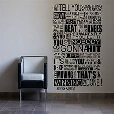 inspirational wall sticker quotes large rocky balboa mural inspirational wall sticker quote