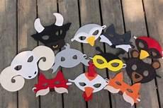 Faschingsmasken Basteln Sch 246 Ne Tiermasken Mit Kindern