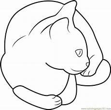 Katze Sitzend Malvorlage Pet Cat Sitting Coloring Page Free Cat Coloring Pages