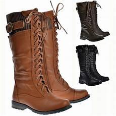weite schuhe damen womens wide calf faux leather winter boots