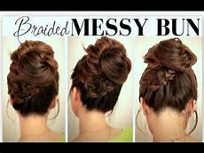 Bun Hairstyles For School