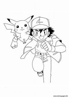 pikachu and ash coloring pages in 2020