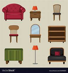 different types of furnitures royalty free vector image