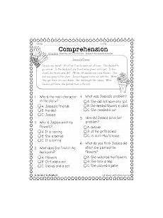 comprehension freebie multiple choice problems 2nd grade reading comprehension reading