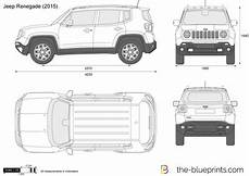 jeep renegade dimensions the blueprints vector drawing jeep renegade