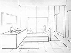 Bathroom Ideas Drawing by Bathroom Sketch In Perspective By Bryant Littrean Dribbble