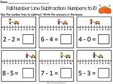 worksheets for 18166 fall number line addition subtraction within 10 grade math teaching subtraction