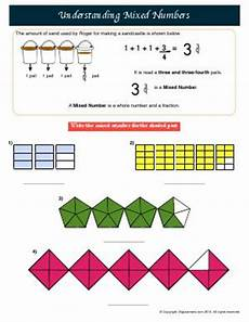 mixed numbers third grade math worksheets biglearners