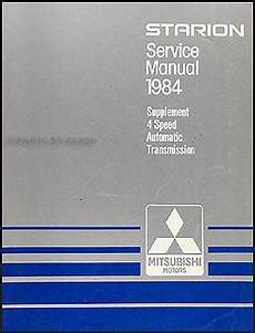 auto repair manual online 1984 mitsubishi starion electronic toll collection 1984 mitsubishi starion 4 speed automatic transmission manual supp
