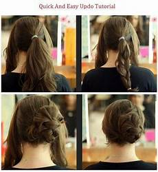 quick easy updo hairstyles how to