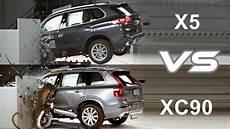 2019 bmw x5 vs 2019 volvo xc90 crash test