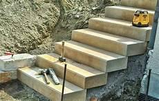 Blockstufen Beton Setzen - betonstufen setzen amazing blockstufen setzen